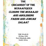 THE CHICANERY AND FRAUD OF THE MUNAAFIQEEN